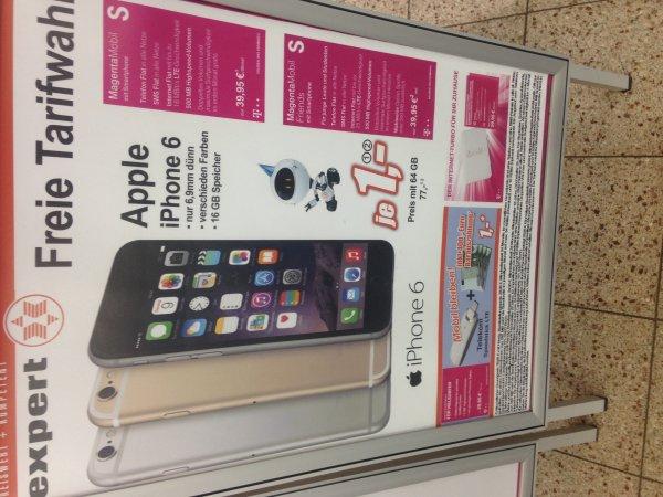 [Expert] T-Mobile Magenta Mobil S (Friends) inkl. iPhone 6 (16GB-1€/64GB-77€) in allen Farben 39,95€/Monat