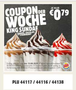 King Sundae für 0,79€ @ Burger King