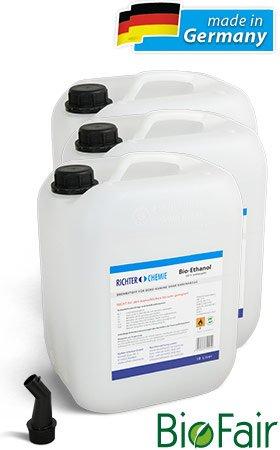 Hitze = Antizyklisch kaufen! 30 Liter Bio Ethanol für 40,90 € (3 mal 10l Kanister) 1,52€/Liter + Ausgießer gratis
