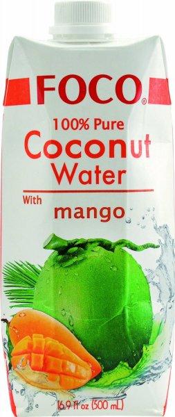 Foco Kokosnusswasser, Mango, 12er Pack (12 x 500 ml) 23,90 @ Amazon