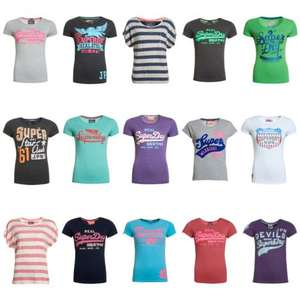 "3 für 2 Superdry Damen T-Shirt Aktion ""Factory Seconds"" effektiv 6,64€ pro Shirt"