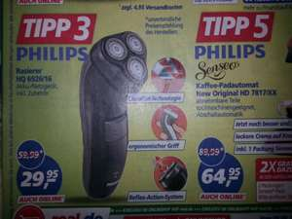 [Real]  Philips HQ 6926/16 Rasierer auch Online (ohne Versandkosten durch Rabattcode)