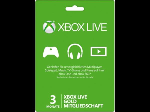 (Österreich) Xbox Live 3 Monate Gold 8€