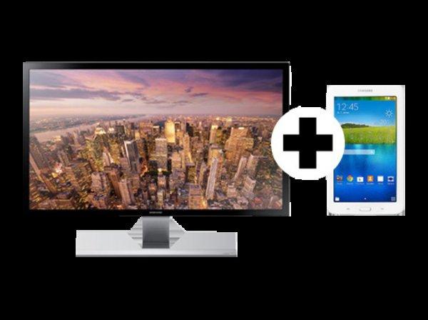 SAMSUNG U28D590D LED 4K Monitor + Samsung Tab 3 WI-FI weiß