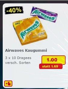 Airwaves 3 x 10 Stück. Samstagskracher im Netto Marken-Discount für 1,00 Euro / Kaufland 1,11 Euro