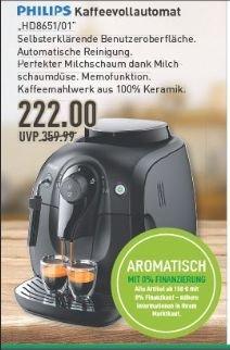 [Marktkauf evtl. nur regional Münster ab Donnerstag, 13.08.] Philips HD8651/01 Kaffeevollautomat  für 222€ (Idealo ab 299€)