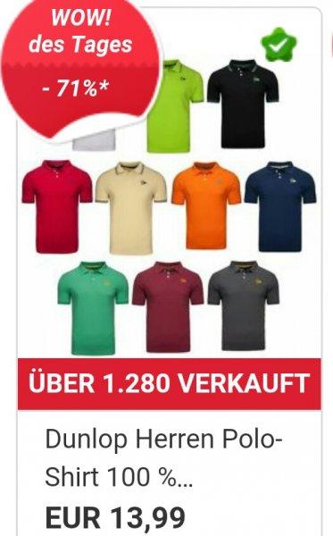 [Ebay WOW] Dunlop Herren Polo-Shirt