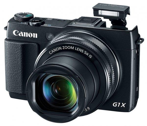 CANON PowerShot G1 X Mark II, (13.1 Megapixel, 5x opt. Zoom, 3 Zoll-Touchscreen-LCD-Display, Bildstabilisator, WLAN, schwarz) für 529 € inkl. Versand, @Saturn