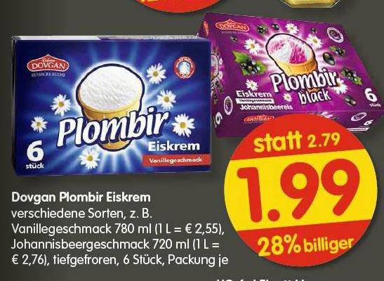 PLOMBIR Eis wieder da für € 1,99 @Treff 3000