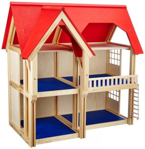 @AMAZON: Selecta Thola 4249 - 3 stöckiges Holz - Puppenhaus (drei Etagen) für 56,30 € / Idealo ab ~150 €