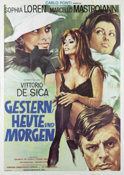 "ARTE : Film ""Gestern, heute und morgen ""  mit Vittorio de Sica & Sophia Loren - bis 2.9.2015 gratis"