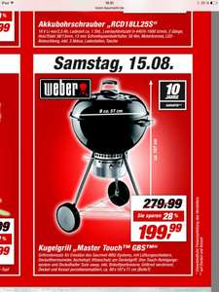 Weber Master Touch GBS 57cm Toom BM Oberursel am 15.08.