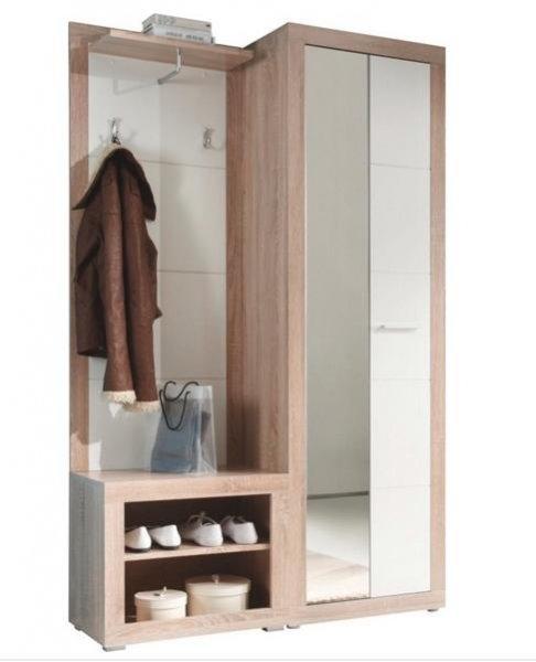 [XXXL] Garderobe mit Türen und Schuhregal (120/194/37cm) für 99,90€ statt 180€ + kostenloser Versand