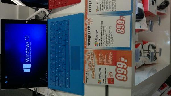 [Expert Technikmärkte] [ggf. lokal Schwerin] Surface Pro3 i5 8GB 256GB 999€, i5 4GB 128GB 859€