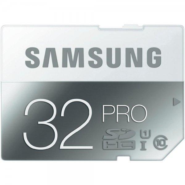 Samsung SDHC Pro 32GB Class 10 (Lesen: 90 MB/s/ Schreiben: 50 MB/s) für 14,99€ versandkostenfrei  @ Conrad.de