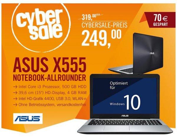 Cyberport - Cybersale Asus F555LA-XX270D (Einsteiger Notebook ca. 14% unter idealo)
