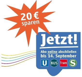 [MVG München] 20€ sparen bei online-Abschluss eines Abos