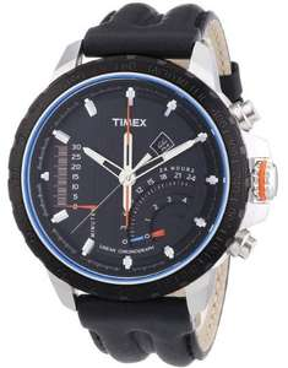 [uhr.de/amazon.de] Timex Linear Indicator Chrono T2P274 Herren Edelstahl-Chronograph mit Lederarmband ab 89€ incl.Versand!