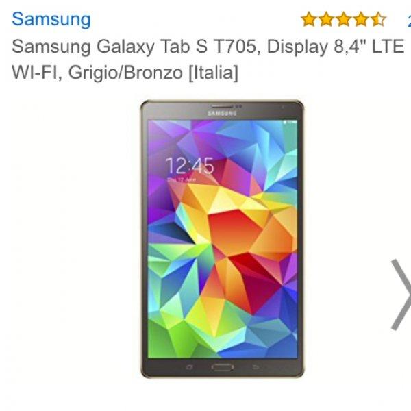 Samsung Tab S 8.4 LTE @Amazon.it bronze/gold