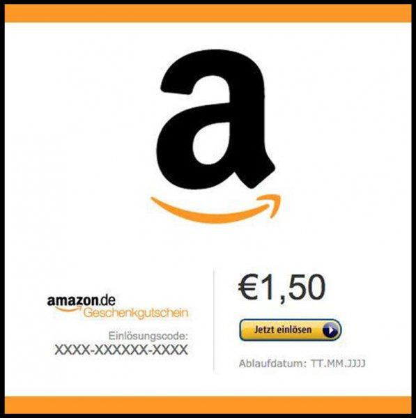 Amazon Gutschein im Wert von 1,50€ für 1,00€ Schnell Sein!
