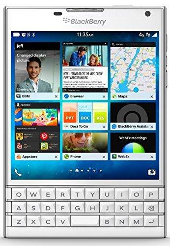 [Amazon.de] BlackBerry Passport Smartphone (11,4 cm (4,5 Zoll) Display, Nano-SIM, QWERTZ, 32GB interner Speicher, 13 Megapixel Kamera, Blackberry OS 10.3) weiß als Blitzangebot für 399 € / PVG ab 458,19€
