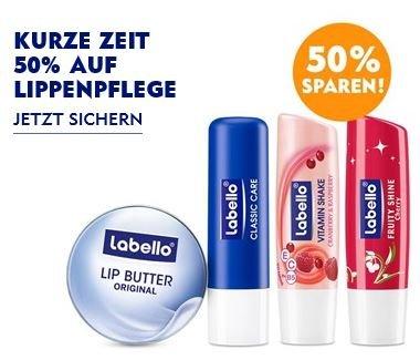 NIVEA und Labello Lippenpflege 50% reduziert