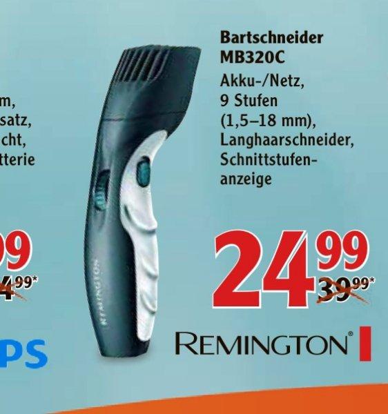 [Globus] Remington MB320C Bartschneider für 24,99€