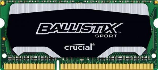 4GB Crucial Ballistix Sport DDR3-1600 SO-DIMM CL9 Single ab 17,10 @ Mindfactory