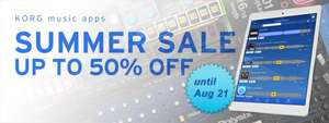 KORG iOS apps: SPECIAL SUMMER SALE up to 50% off!