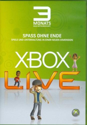 3 Monate XBOX LIVE GOLD >6,99€<