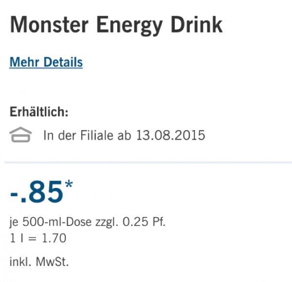 Monster Energydrink versch. Sorten LIDL