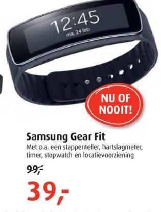 [Grenzgänger NL] Samsung Galaxy Gear Fit 39€ @belcompany.nl