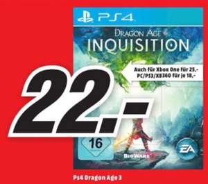 [Lokal Media Markt Düsseldorf] Dragon Age: Inquisition (PS4) für 22,00€