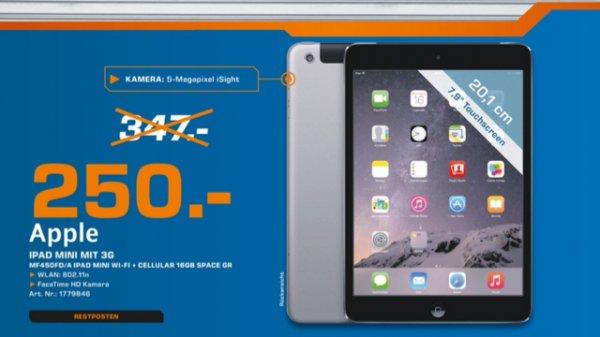 Ipad Mini 3 LTE 16GB für 250€ [Lokal? Saturn Braunschweig]