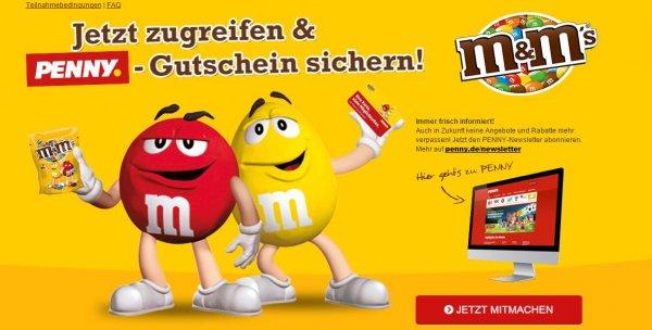 10 EUR Penny-Gutschein für 10 EUR gekaufte M&Ms bei Penny