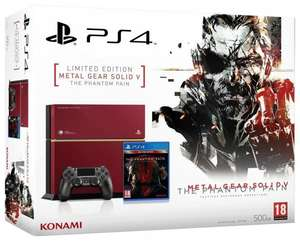 Limitierte PS4 Konsole 500GB inkl Metal Gear Solid V - Amazon.fr für 419,69€