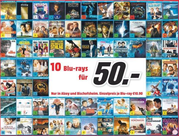 Media Markt 10 Blu-Rays für 50€ [Lokal Alzey & Bischofsheim]