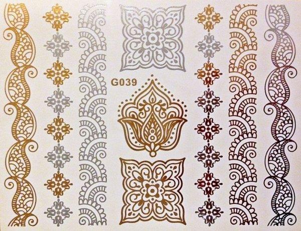 Gold-Flash-Tattoo - 2,99 ink. Versand