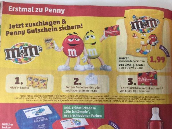 [BUNDESWEIT IM ANGEBOT: Ab Montag, 17.08]  5 anstatt nur 3-4 Packungen M&Ms für 9,95€ + 10 Euro Penny Gutschein
