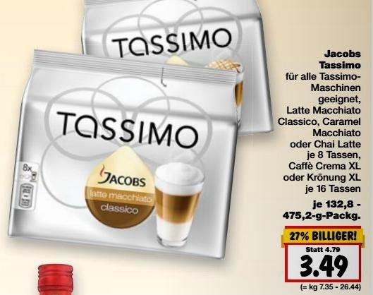Kaufland Tassimo für 3,49 € versch. Sorten