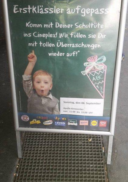 [lokal Wiesbaden] Gratis Auffüllung der Schultüte im Apollo Kino