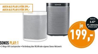 [Lokal Dortmund] Sonos Play:1 Aktiver Multimedia-Lautsprecher für 199€   Idealo: 219€