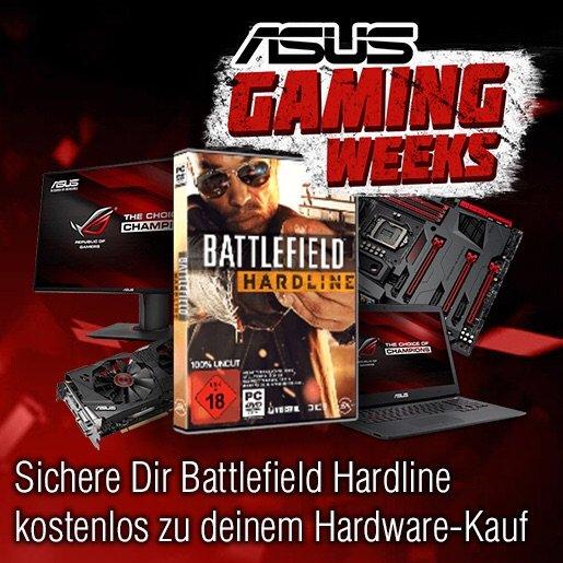 Battlefield Hardline Spielecode bei Asus Hardware-Kauf