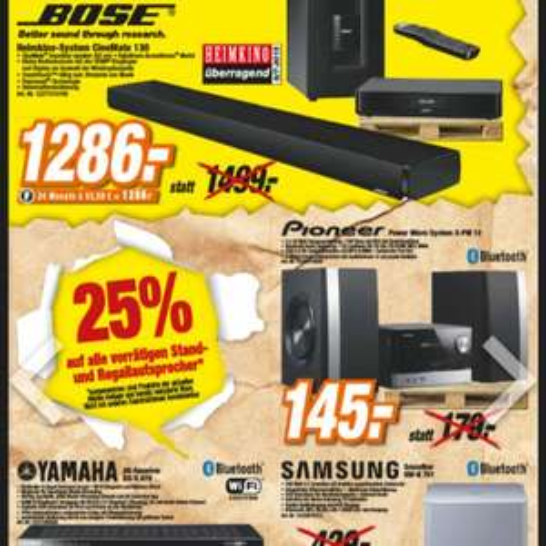 Bose Heimkino System CineMate 130 für 1286€ statt 1499€