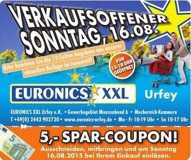 Euronics XXL [NRW-Urfey] Dickie Toys 20€ (idealo 37€), Blu Rays 1,11€ (idealo ca. 7-9€), Exquisit Kühlschrank 95€ (idealo 125€), Kopierpapier 1,99€, Wireless Lautsprecher 4,99€ (idealo: 14€) [16.08.2015]
