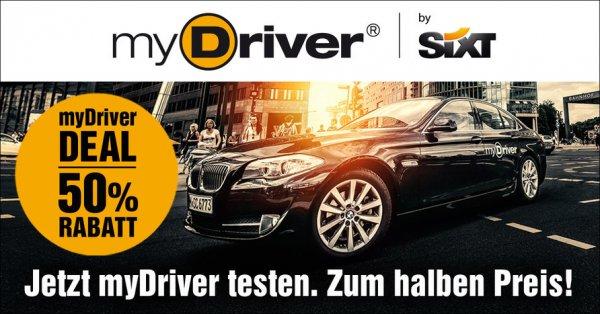 Mydriver Taxi 50% Rabatt