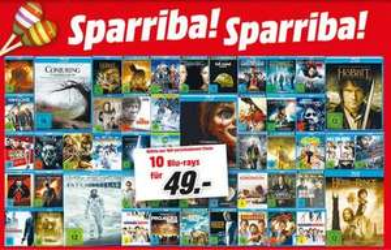 [Lokal] 10 Blu-Rays für 49€ bei Media Markt Köln