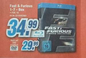 [lokal Expert Kronach] Fast & Furious 1-7 Bluray Box 34,99