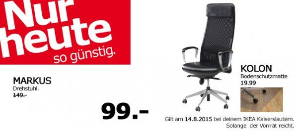 lokal Kaiserslautern IKEA Neueröffnung Drehstuhl Markus 99€ statt 149€