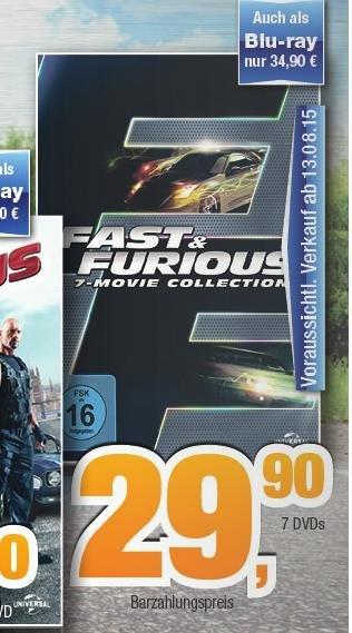 [Expert Bening] [Tootal Markt] Fast & Furious 1-7 Bluray Box 34,99